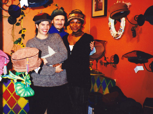 Gwendolyne, William and Mel in the shop at the 401 Richmond building in 1994