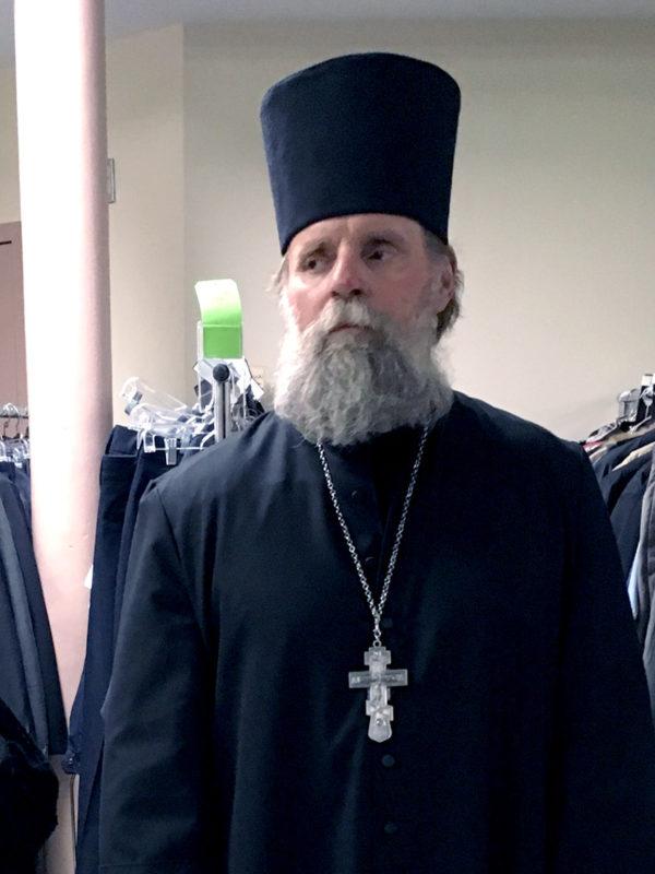 One actor dressed in garments of Orthodox priest