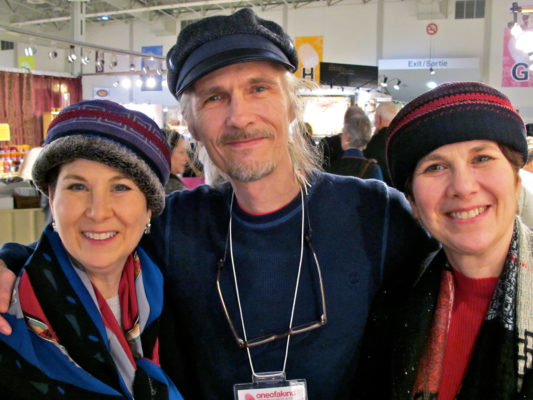 3 people wearing Gwendolyne Hat designs