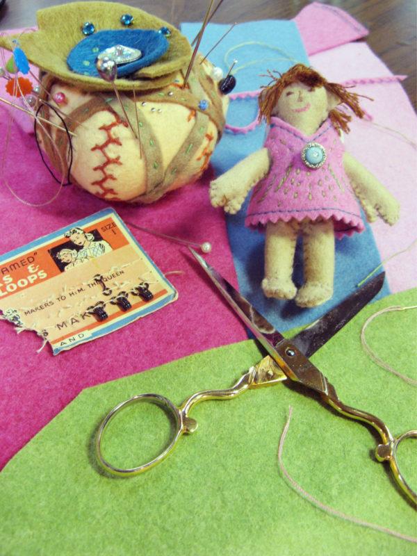 small felt handmade doll