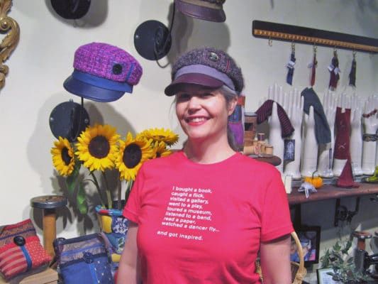 Gwendolyne in her shop at the 401 Richmond building in Toronto