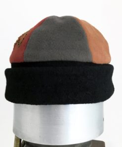 Front view of a earth tone coloured Bean Toque against a white background
