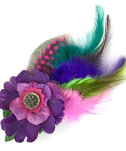 A custom Floral Cluster fascinator by Gwendolyne Hats
