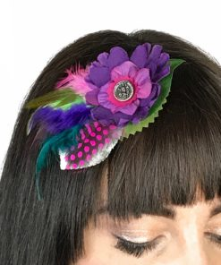 A custom Floral Cluster fascinator by Gwendolyne Hats