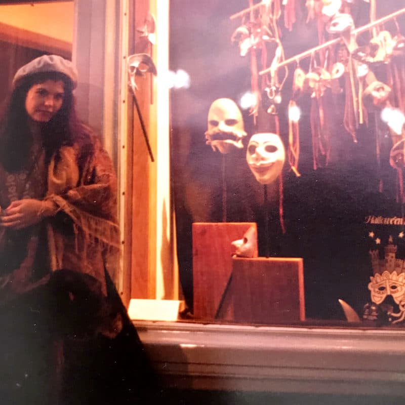 Gwendolyne early years as a Mask Maker