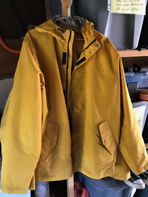 Aged Yellow Hooded Jacket